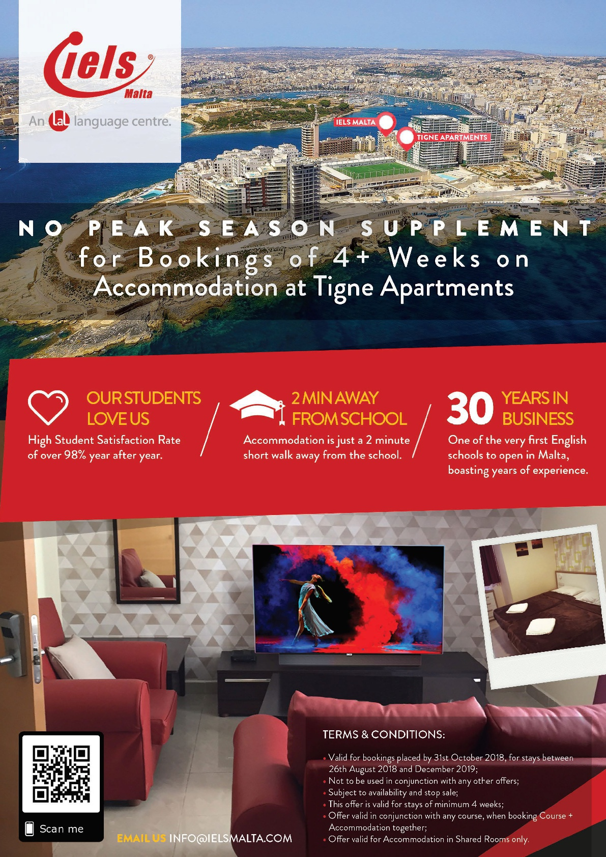 Special offer on Tigne Apartments, Sliema